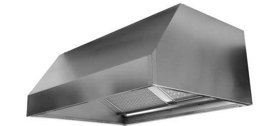 Wall hood without motor 900x1400