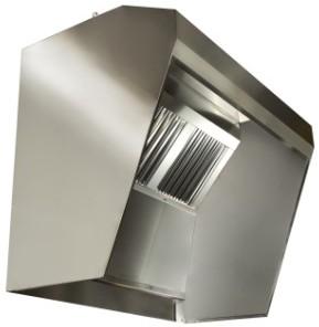 Cappa con paratie per friggitrici kebab - Cappa cucina laterale ...