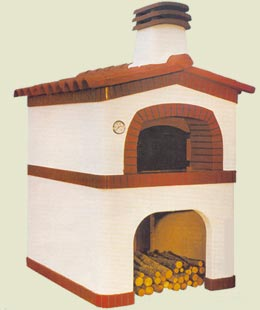 Wood oven of masonry base